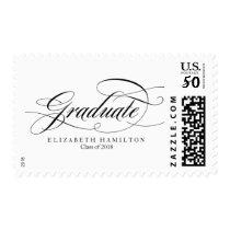 Graduate Elegant Calligraphy Graduation Postage