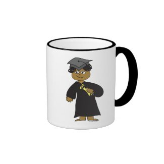 Graduate, Ethnic Male Coffee Mugs