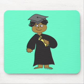 Graduate, Ethnic Male Mouse Pad