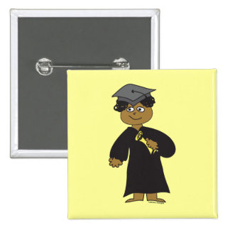 Graduate, Ethnic Male Pinback Button