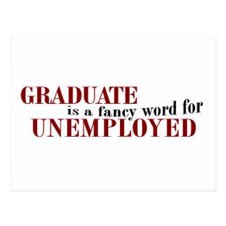 Graduate Fancy For Unemployed Postcard