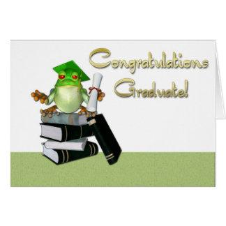 Graduate Frog Books Card
