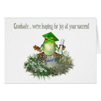Graduate Frog Greeting Cards