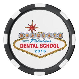 Graduate From Fabulous Dental School 2016 (Vegas) Poker Chips at Zazzle