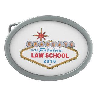 Graduate From Fabulous Law School 2016 Vegas Sign Oval Belt Buckle