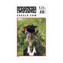 Graduate Giraffe Red Tassel Postage