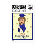 Graduate Girl - Customize Postage Stamps