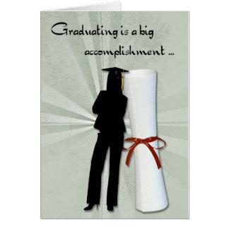 Graduate Girl Diploma Card
