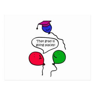 Graduate Going Places Postcard