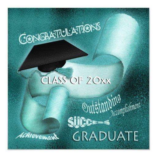 Graduate graduation class of elegant personalized invites