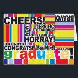 "Graduate Graduation Congratulations Grad card<br><div class=""desc"">Congratulate your newest graduate with this colorful fun card.</div>"