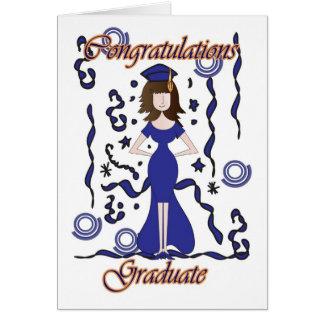 Graduate, Graduation Congratulations with girl Card