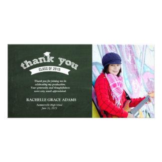 Graduate Hat Chalkboard Graduation Thank You Card Photo Card