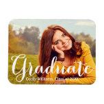 Graduate in Script | Photo Announcement Rectangular Photo Magnet