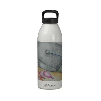 graduate invitation water bottle
