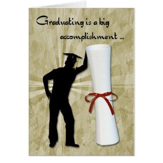 Graduate Male Diploma Greeting Cards