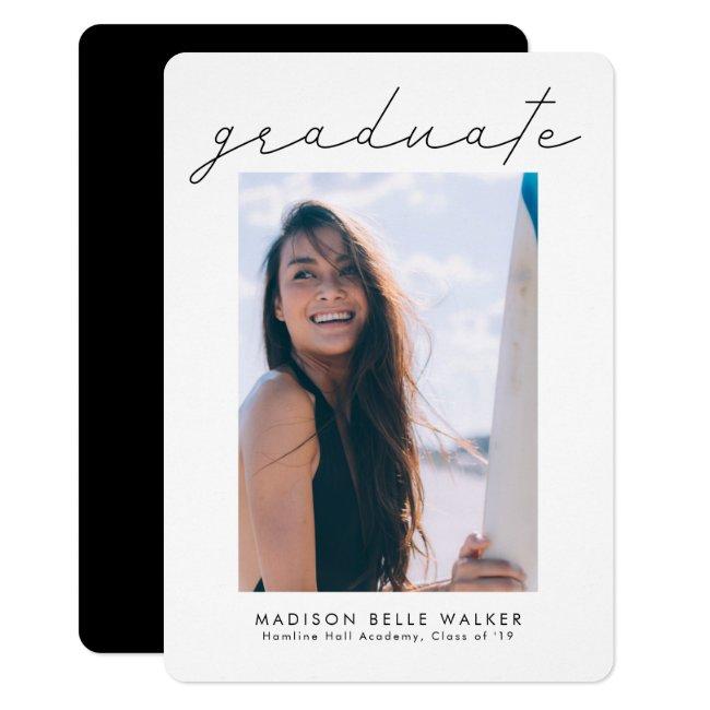 Graduate Modern Graduation Photo Announcement