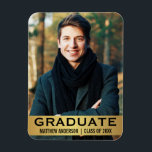 "Graduate Modern Photo Magnet Gold L<br><div class=""desc"">Graduate Modern Photo Magnet Gold</div>"