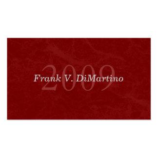 Graduate Name Card with Photo - Maroon Marbled Business Card Templates
