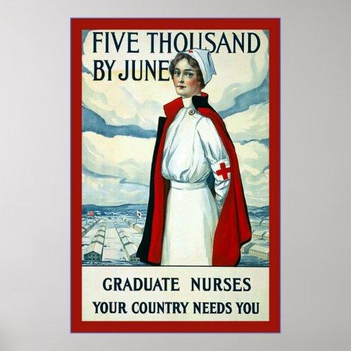 Graduate Nurses ~ Vintage Nurse Poster