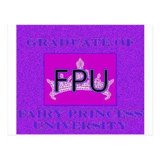 Graduate Of Fairy Princess University 2 Postcard