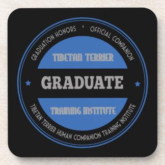 Graduate of Tibetan Terrier Training Institute Drink Coaster