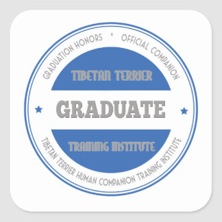 Graduate of Tibetan Terrier Training Institute Square Sticker