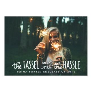 Graduate Photo Tassel Was Worth The Hassle Script Card