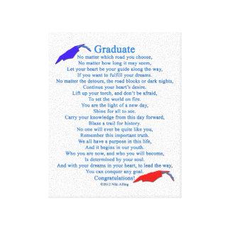 Graduate Poem Canvas Print