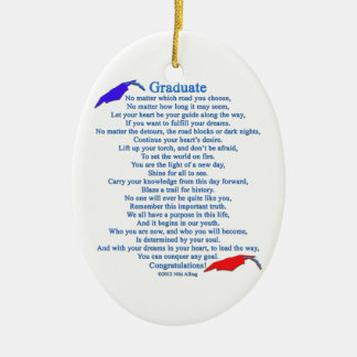 Graduate Poem Ceramic Ornament