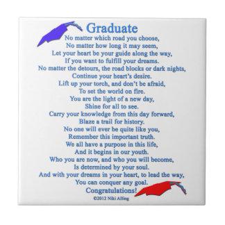 Graduate Poem Ceramic Tile