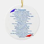 Graduate Poem Christmas Ornaments