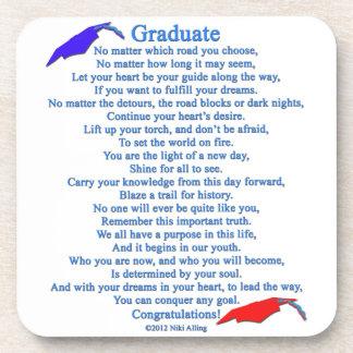 Graduate Poem Beverage Coasters