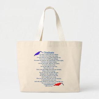 Graduate Poem Large Tote Bag