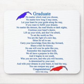 Graduate Poem Mouse Pad