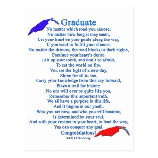 Graduate Poem Postcard