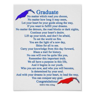 Graduate Poem Posters