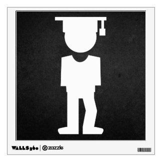 Graduate Posts Pictograph Wall Sticker