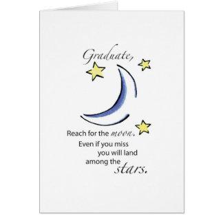 Graduate Reach for Moon, Congratulations Card