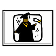Graduate Receiving Diploma (1) Large Business Cards (Pack Of 100)