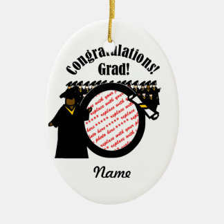 Graduate Receiving Diploma (1) Photo Frame Ceramic Ornament