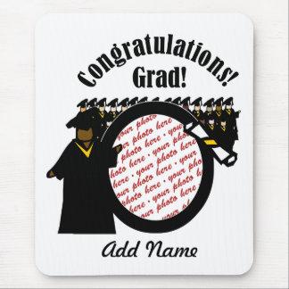 Graduate Receiving Diploma (1) Photo Frame Mouse Pad