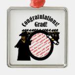 Graduate Receiving Diploma (1) Photo Frame Square Metal Christmas Ornament