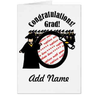 Graduate Receiving Diploma (2) Photo Frame Greeting Card