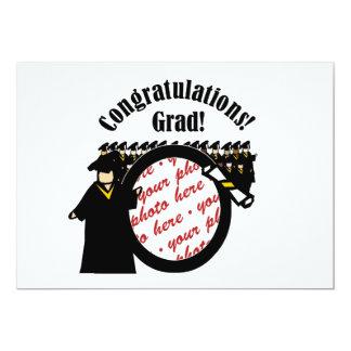 Graduate Receiving Diploma (2) Photo Frame Card