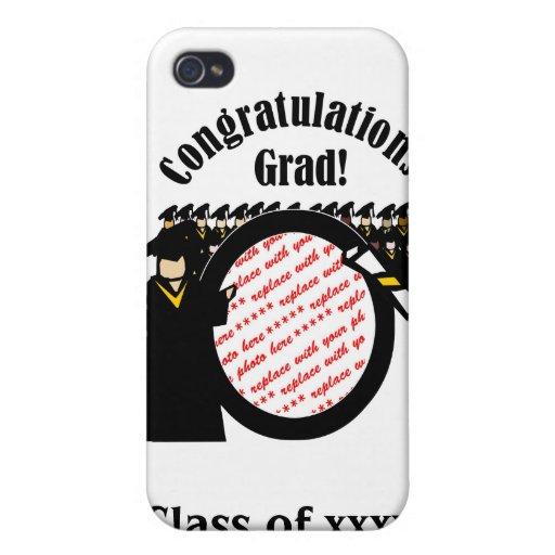 Graduate Receiving Diploma (2) Photo Frame iPhone 4 Covers