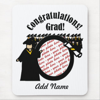 Graduate Receiving Diploma (2) Photo Frame Mouse Pad