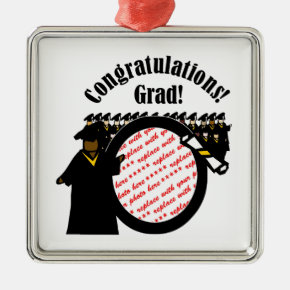 Graduate Receiving Diploma Photo Frame Metal Ornament