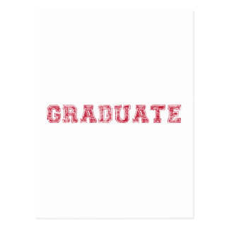 graduate, red text design for graduation t-shirt postcard