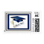Graduate Royal Blue Thank You Postage